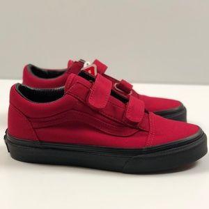 Vans Shoes - Vans Old Skool V Black Sole Jester Red 68c2f583d